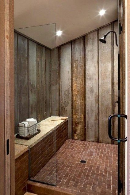 Awesome Farmhouse Bathroom Tile Shower Ideas Remodel Walk In Shower Tileshower Wa Rustic Master Bathroom Master Bathroom Makeover Farmhouse Master Bathroom