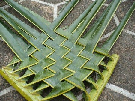 Weaving Coconut Leaf Plates In 2020 Coconut Leaves Leaf Plates Weaving