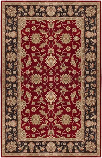 Surya Crowne 12 X 15 Hand Tufted Wool Rug In Red In 2020 Burgundy Rugs Traditional Area Rugs Area Rugs