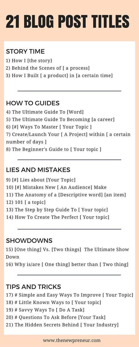 21+ Eye-Catching Blog Post Title Templates