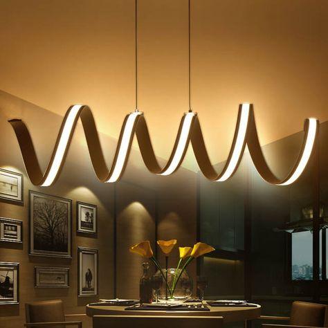 Moderno LED Lámparas Colgantes Comedor Luces Colgantes Salón ...