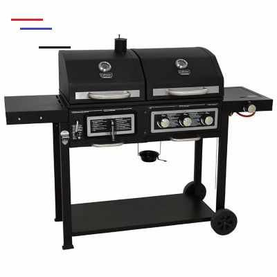 Uniflame Classic Gas And Charcoal Combination Grill Outdoor