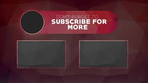 Image Result For Youtube End Screen Template Team Logo Design Templates Youtube