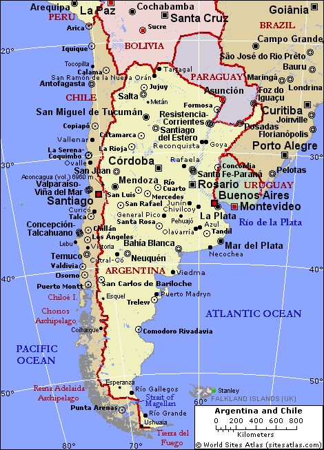 Map Of Chile And Argentina Google Search Travel Maps Of The - Argentina chile map