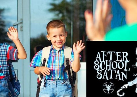 """KIDS IN SATAN'S SERVICE: When I was in high school, and the rock band KISS first came out, people whispered that the Nazi-style font of the KISS logo stood for """"Kids In Satan's Service"""". In 2016, YOUR kids might very well be influenced by the new AFTER SCHOOL SATAN CLUBS now forming in grade schools all across America. The tide of darkness is RISING, Christian, and it's time to step your witness for Jesus Christ up or face defeat. Which do YOU choose? #Joshua2415…"""