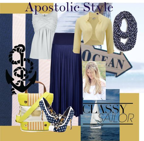 """Nautical Apostolic Style"" by emmyholloway on Polyvore"