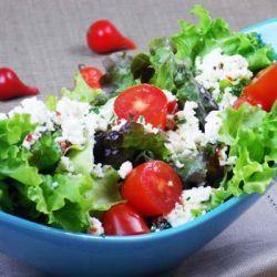 Salada com ricota temperada   Minha Vida
