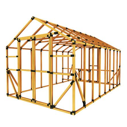 E Z Frames Diy 10 Ft W X 16 Ft D Chicken Coop And Run Kit Storage Shed Kits Building A Shed Shed Kits