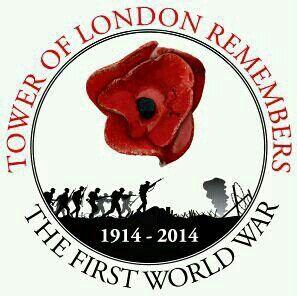 Centenario caidos 1 guerra   mundiak. Amapolas de cerámíca Torre de Londres