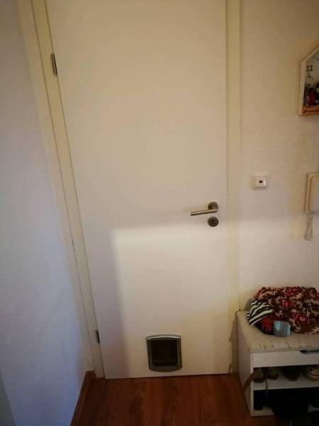 Wir Verkaufen Eine Zimmertur Mit Eingebauter Katzenklappe Die Tur