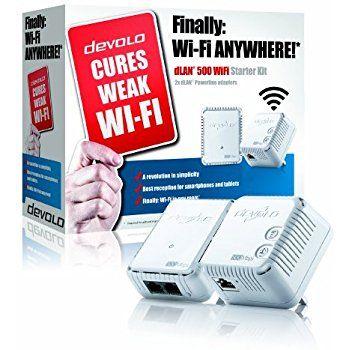 Devolo Dlan 1200 Wi Fi Ac Powerline Starter Kit 1200 Mbps 2 Plc Adapter 2 Lan Ports Dual Band 2 4 Ghz 5 Ghz Wi Fi Signal Booster Ra Wifi Powerline Kit