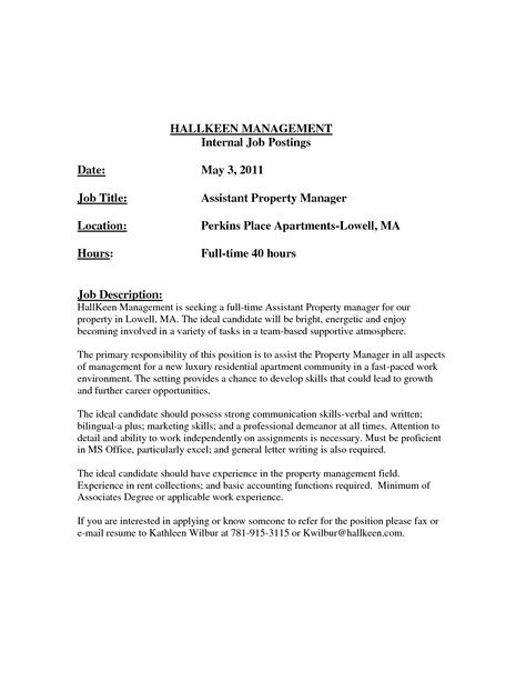 sample cover letter templates resume cover letter template resume - property management cover letter