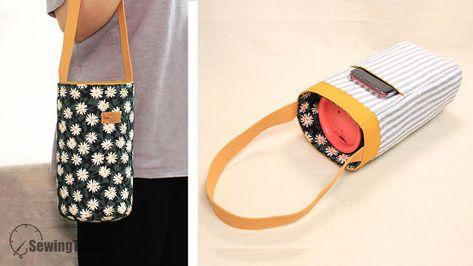 DIY BOTTLE HOLDER BAG with cell phone pocket