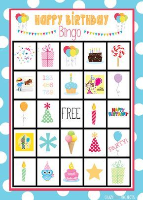 photo about Free Printable Birthday Games for Adults named Lovable Cost-free Printable Birthday Bingo Sport Young children Celebration Game titles