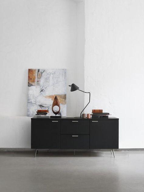 Milano Danish Designer Sideboard Black