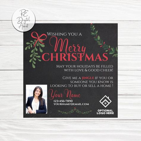 Realtor Jingle Christmas Pop By Tag Real Estate Door Knocking