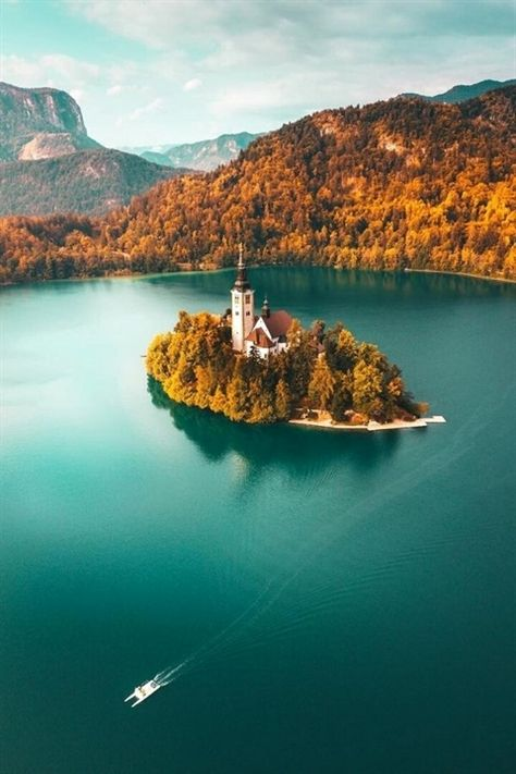 Autumn in lake bled, Slovenia. Photography by Peter Yan Slovenia Travel Destinations Honeymoon Backpack Backpacking Vacation Europe Budget Off the Beaten Path Wanderlust Photography Visit Slovenia, Bled Slovenia, Slovenia Travel, Places To Travel, Travel Destinations, Places To Visit, Bohinj, Europe On A Budget, Lake Bled