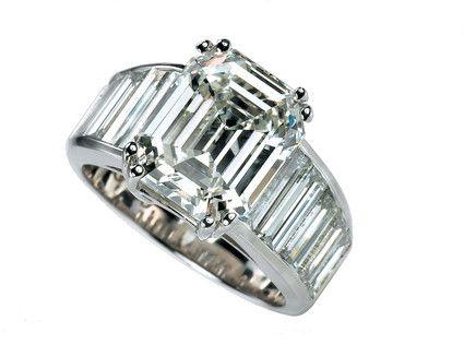 Angelina jolie ring knockoff, Jacob & Co diamond emerald cut wedding ring