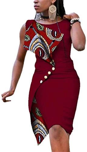 New pujingge Womens Sleeveless Sexy Irregular Oversize Slim African Pencil Womens Dresses. [$55.86] favoritetopbuyshop offers on top store