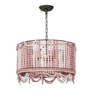 Oro Pendant Drum Lamp Shade Layered Pink Copper Abat Jour