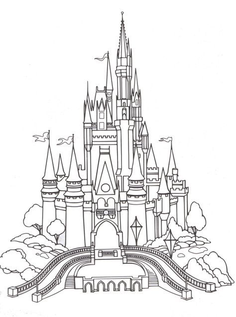 Free Printable Coloring Pages Cinderella S Castle Disney World Cinderella Disney Many Other Disney Activities Castle Coloring Page Disney Castle Drawing