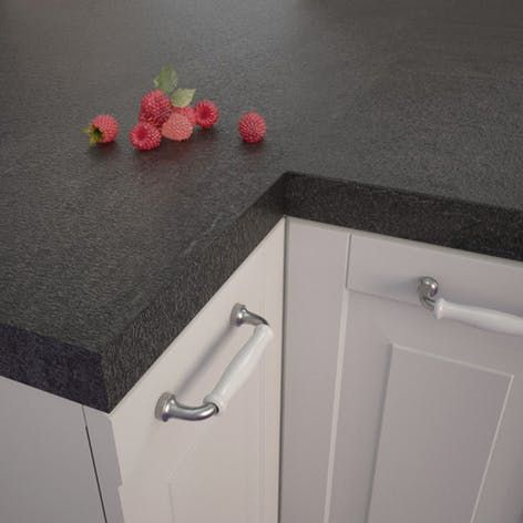 Getalit Black Slate Sc 114 Pat Square Edged Worktop 4100mm X 650mm X 39mm Rearo Laminates Laminate Worktop Laminate Kitchen Laminate Kitchen Worktops