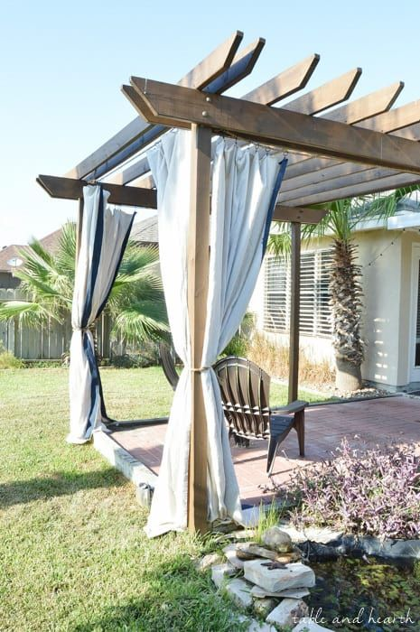 Drop Cloth 50 Drop Cloth Diy Projects For Home My Creative Days Pergola Outdoor Curtains Drop Cloth Curtains Outdoor