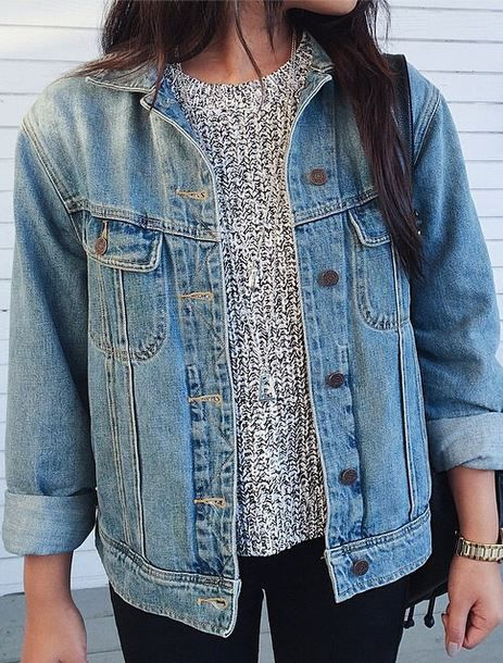 Crew sweater for fall, love this with the jean jacket. Found it on http://www.studentrate.com/trending