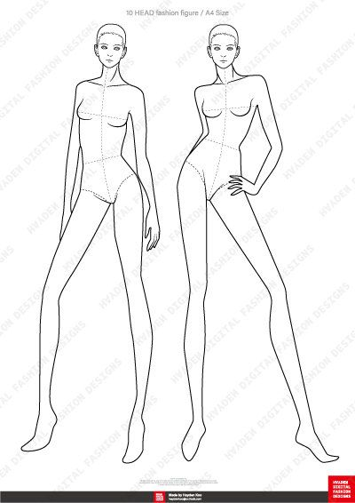 FASHION FIGURE TEMPLATE pro ver. | Etsy