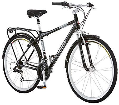 Amazon Com Schwinn Discover Hybrid Bike Featuring 16 Inch Small Aluminum Step Through Frame With 21 Speed Drivet Hybrid Bicycle Touring Bicycles Hybrid Bike