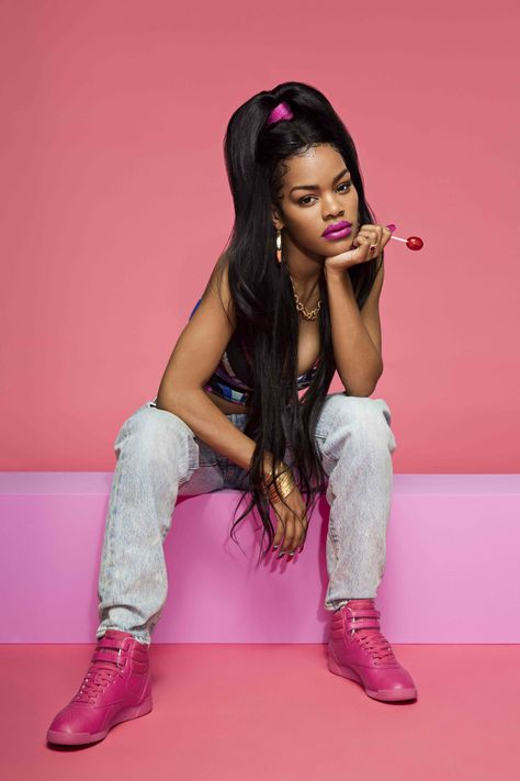 Teyana Taylor Channels the in Sporty New Reebok Campaign – Footwear News Pharrell Williams, Teyana Taylor Reebok, Kanye West, Black Girl Magic, Black Girls, Photographie Street Art, Photography Poses, Fashion Photography, Photoshoot Themes