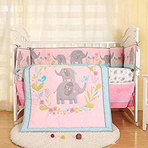 Baby Bedding Crib Set 7pcs Cute Blue