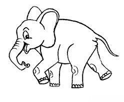 رسومات اطفال سهلة للتلوين حيوانات أليفة برية Draw Animal For Kids Cartoon Coloring Pages Elephant Coloring Page Coloring Pages