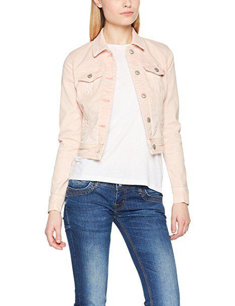big sale d4738 c3c70 LTB Jeans Damen Jacke Destin Jacket, Rosa (Ashy Pink Wash ...