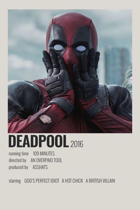 deadpool minimalist poster