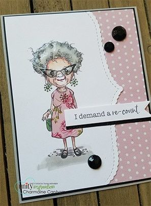 Demand A Re Count Unity Stamps Card Making Handmade Birthday Cards