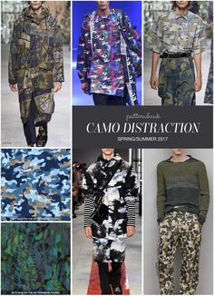 Menswear Spring/Summer 2017 – Key Print and Pattern Highlights - Camo Distraction