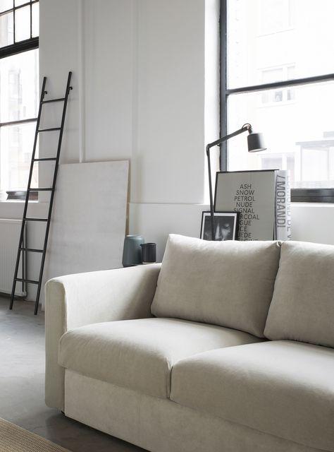 modern industrial styling living room beige velvet sofa modern - wohnzimmer beige modern