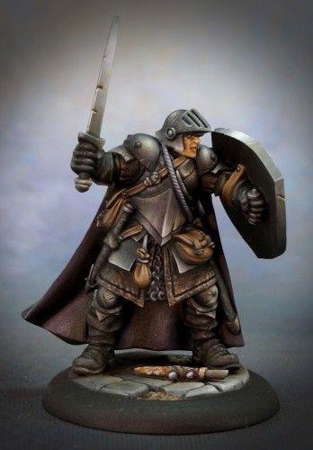 Medraut The Knight Shadow\\ 25x50mm base Fantasy Miniature \\ D/&D \\ Warhammer