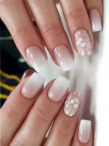67 Ideas Nails Gel French Ombre Lace Nail Design Lace Nails Ombre Nail Art Designs