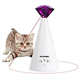 Pixnor Cat Toy Pet Laser Pointer For Cats Automatic Rotating Catch Training Adjustable 3 Speeds Automatic Rest Period Pretty Diamond Shape Battery Powered In 2020 Indoor Cat Cat Toys Cat Laser Toy