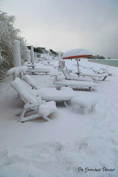 "Porto Cesareo - Le Dune sotto la neve <a href=""http://www.nelsalento.com/porto-cesareo.html"" rel=""nofollow"" target=""_blank"">www.nelsalento.co...</a>"