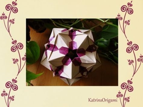 Origami ♥ Sandra Tony ♥ Kusudama - YouTube
