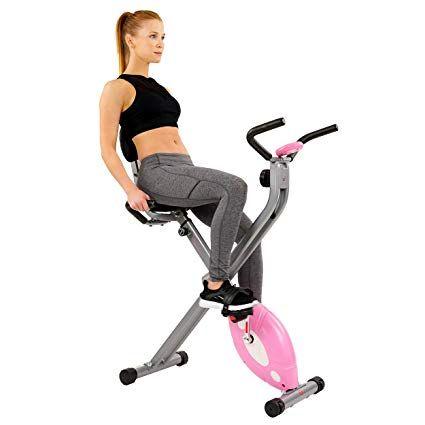Sunny Health Fitness Magnetic Folding Recumbent Bike Exercise
