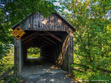 Howe covered bridge in Randolph, Vermont