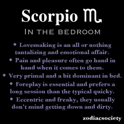 Scorpio All In Bed Man About