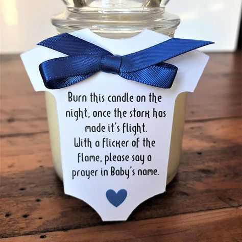 Candle Baby Shower Tags 2.5 Wide Baby Shower Favor