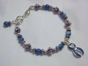 Teal awareness bracelet for PTSD, food allergies, and more.