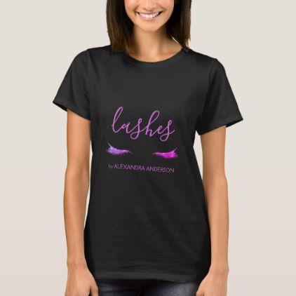 Image by Shutterstock Cool Fashion Glitter Eyelash Women/'s Tee