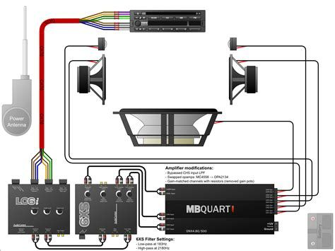 Crossover Wiring Diagram Car Audio Post Date 11 Nov 2018 78 Source Http Bmw E30tun Car Audio Capacitor Car Audio Systems Car Stereo Installation